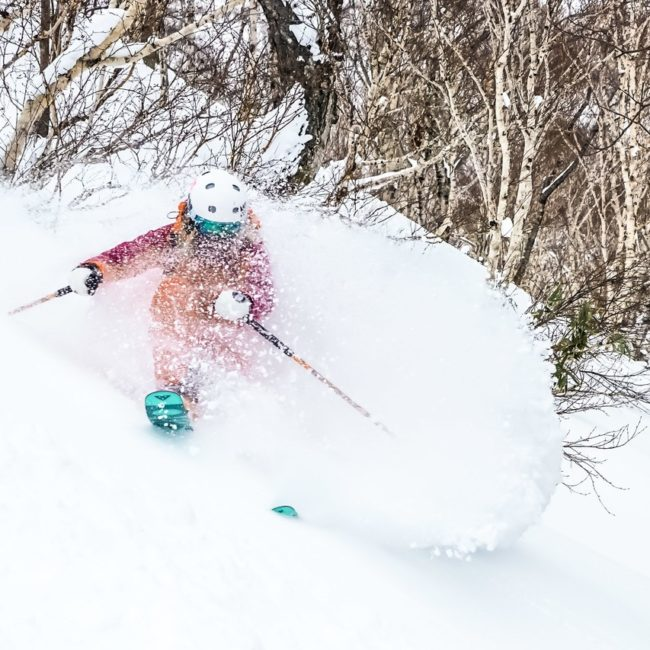 Girl Skiing Hakuba First Tours