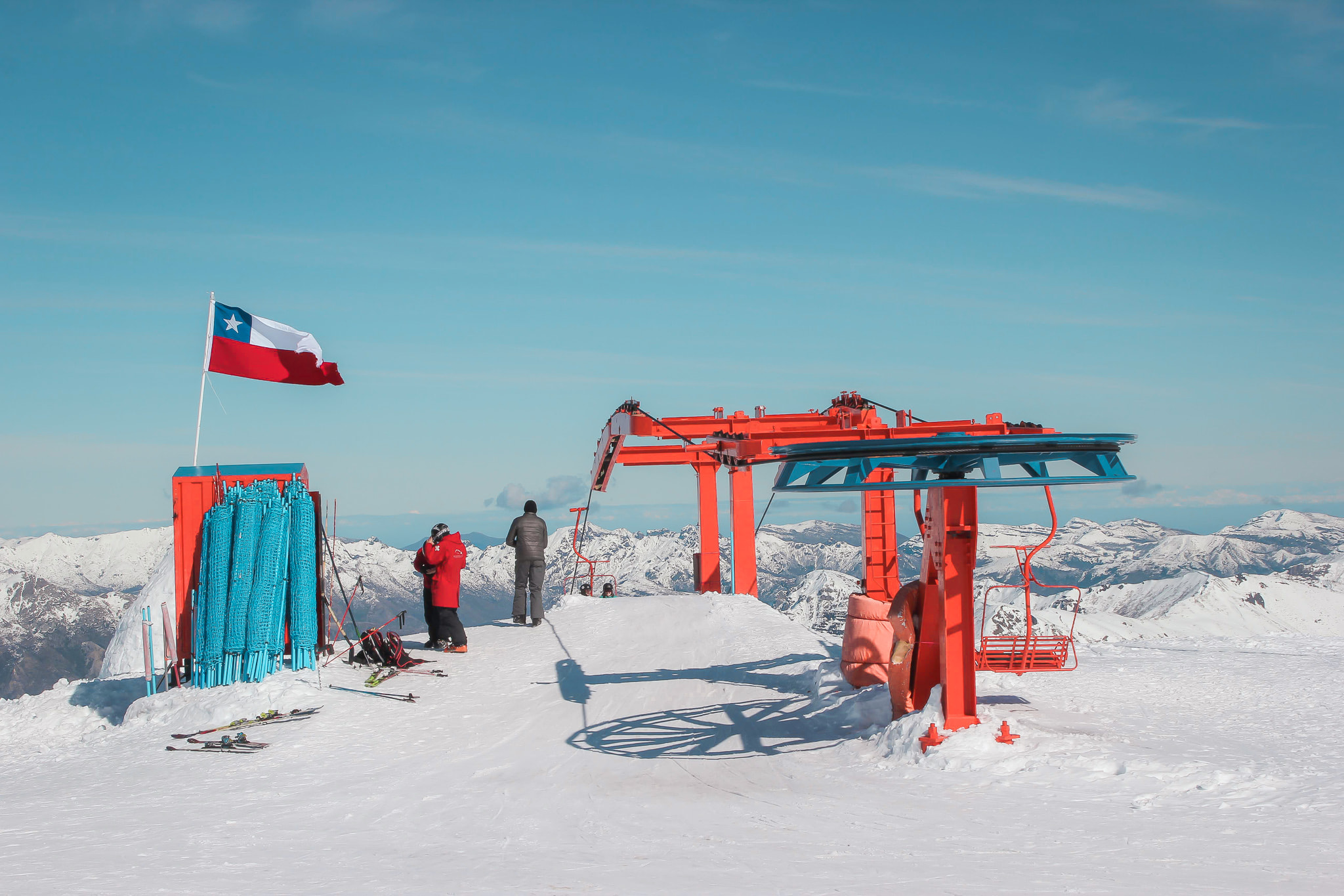 Chair lift in Nevados de Chillan with First Tours