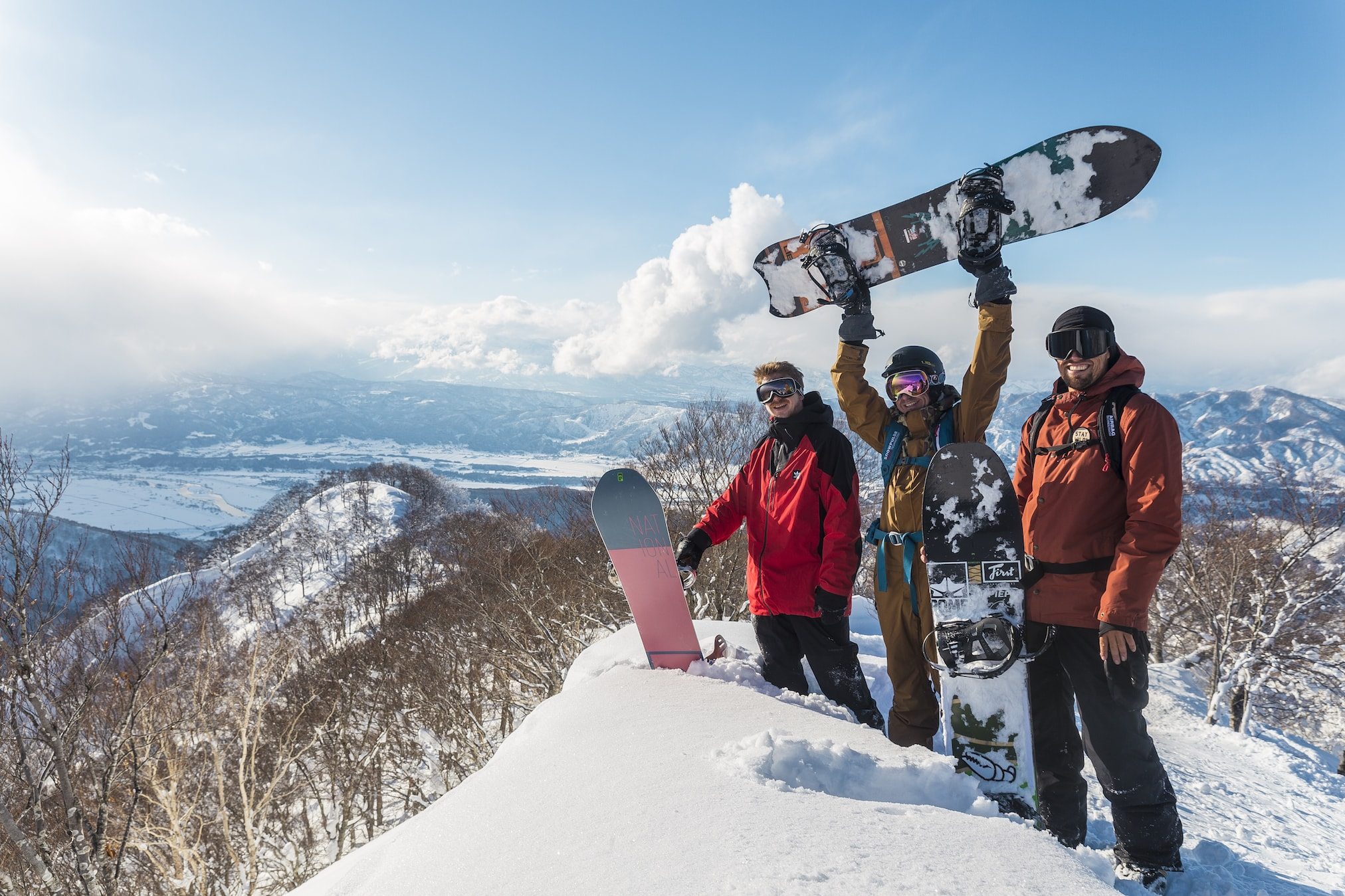 Powder Culture Tour on top of mountain in Nozawa Onsen with First Tours