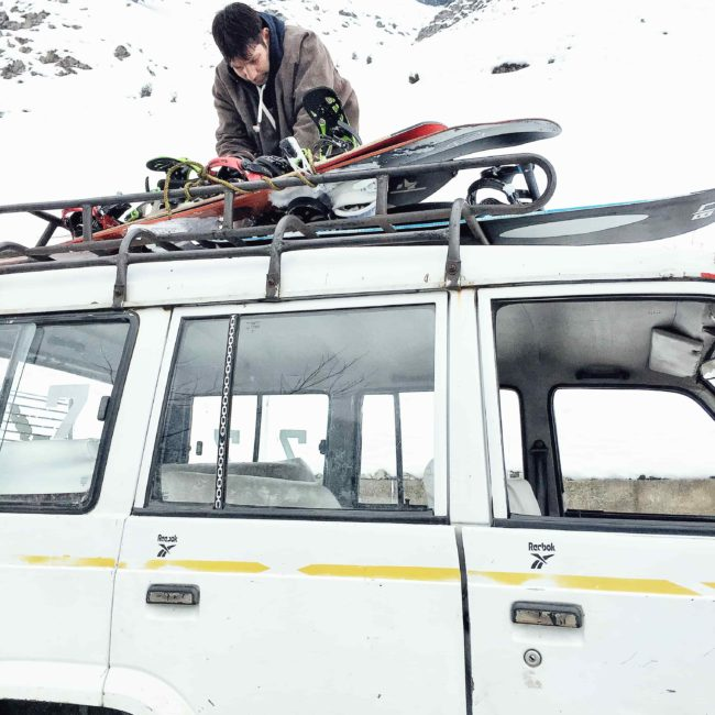 Jeep Taxi during Powder Culture Tour in Gulmarg with First Tours