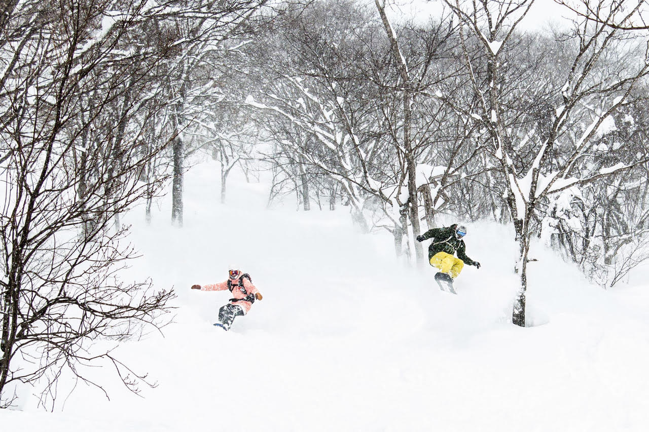 Party wave in Hakuba with First Tours