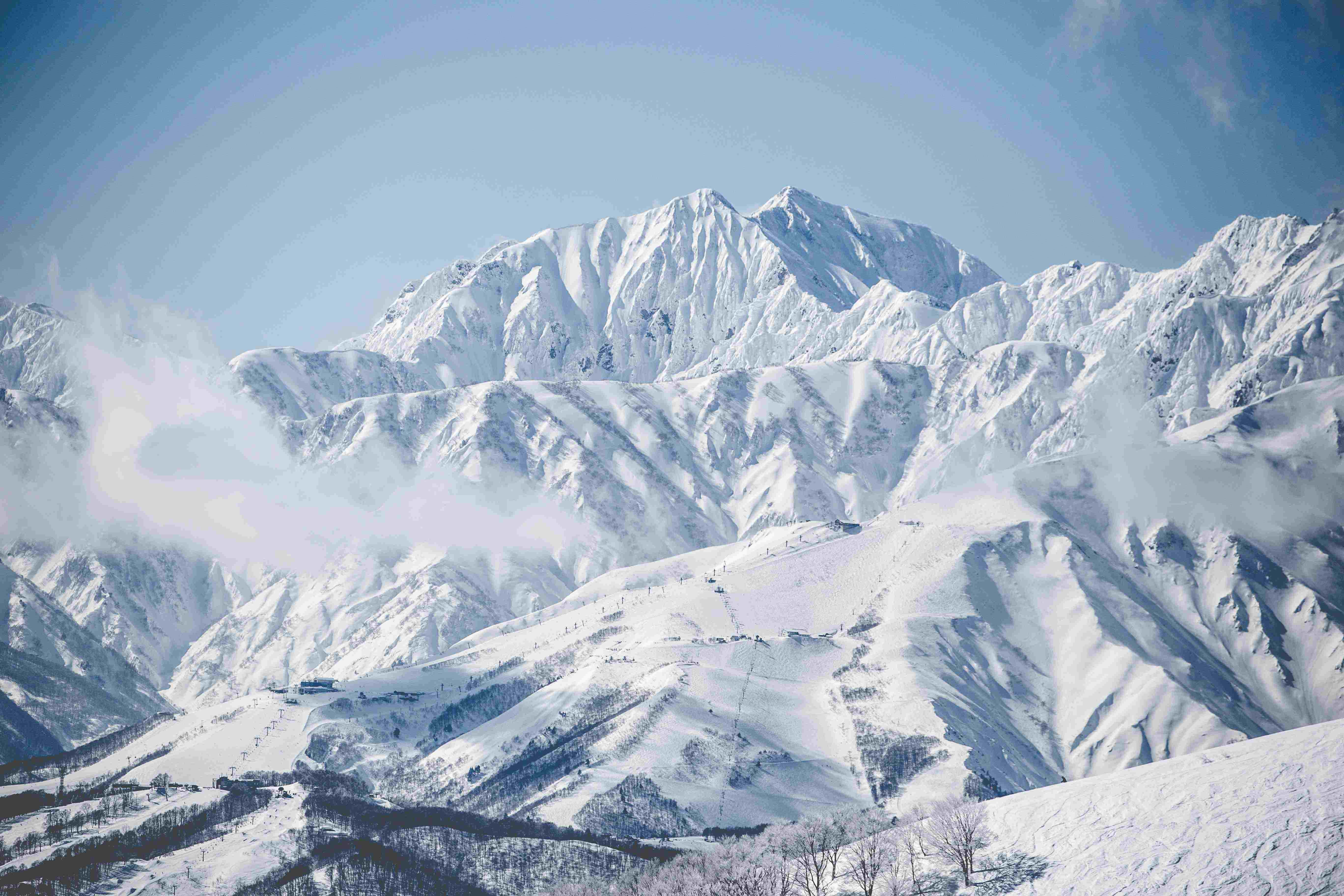beautiful hakuba snowy mountains view