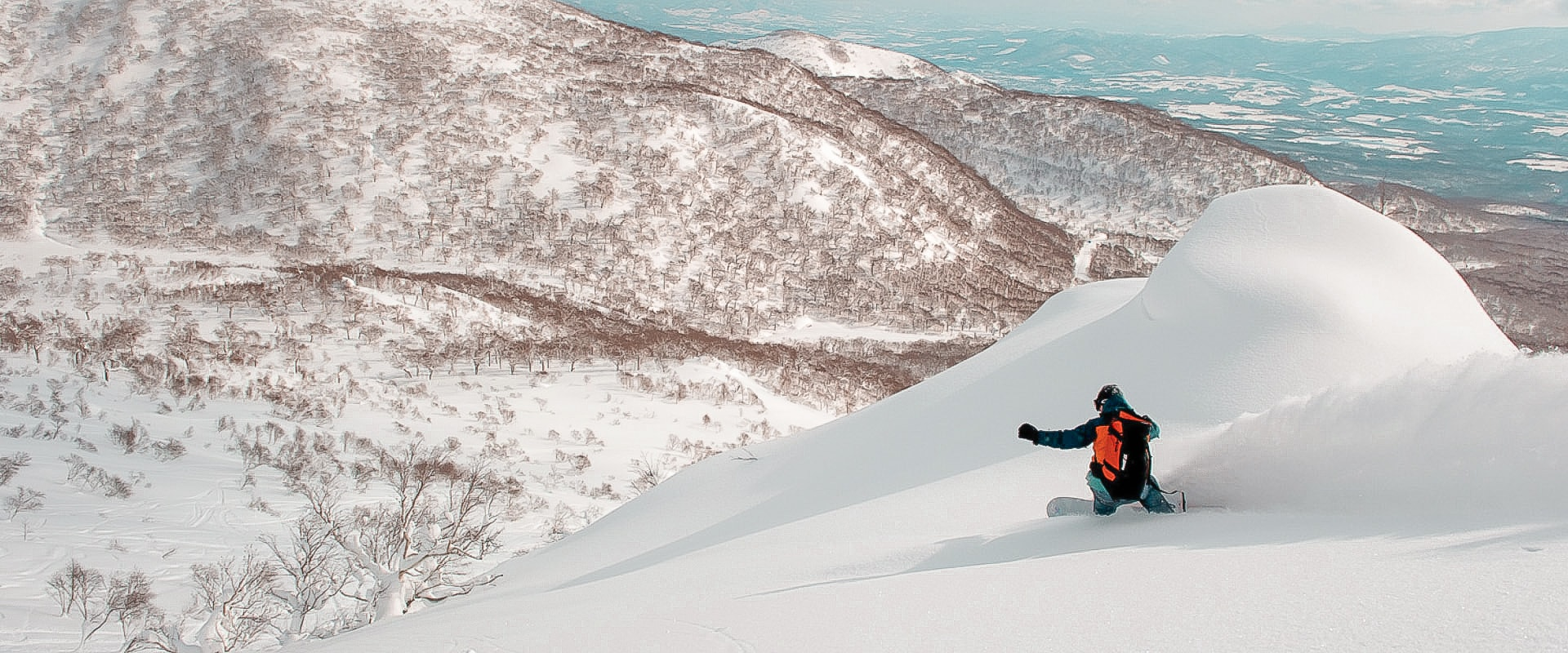 Powder Snowboarder Background First Tours About Us