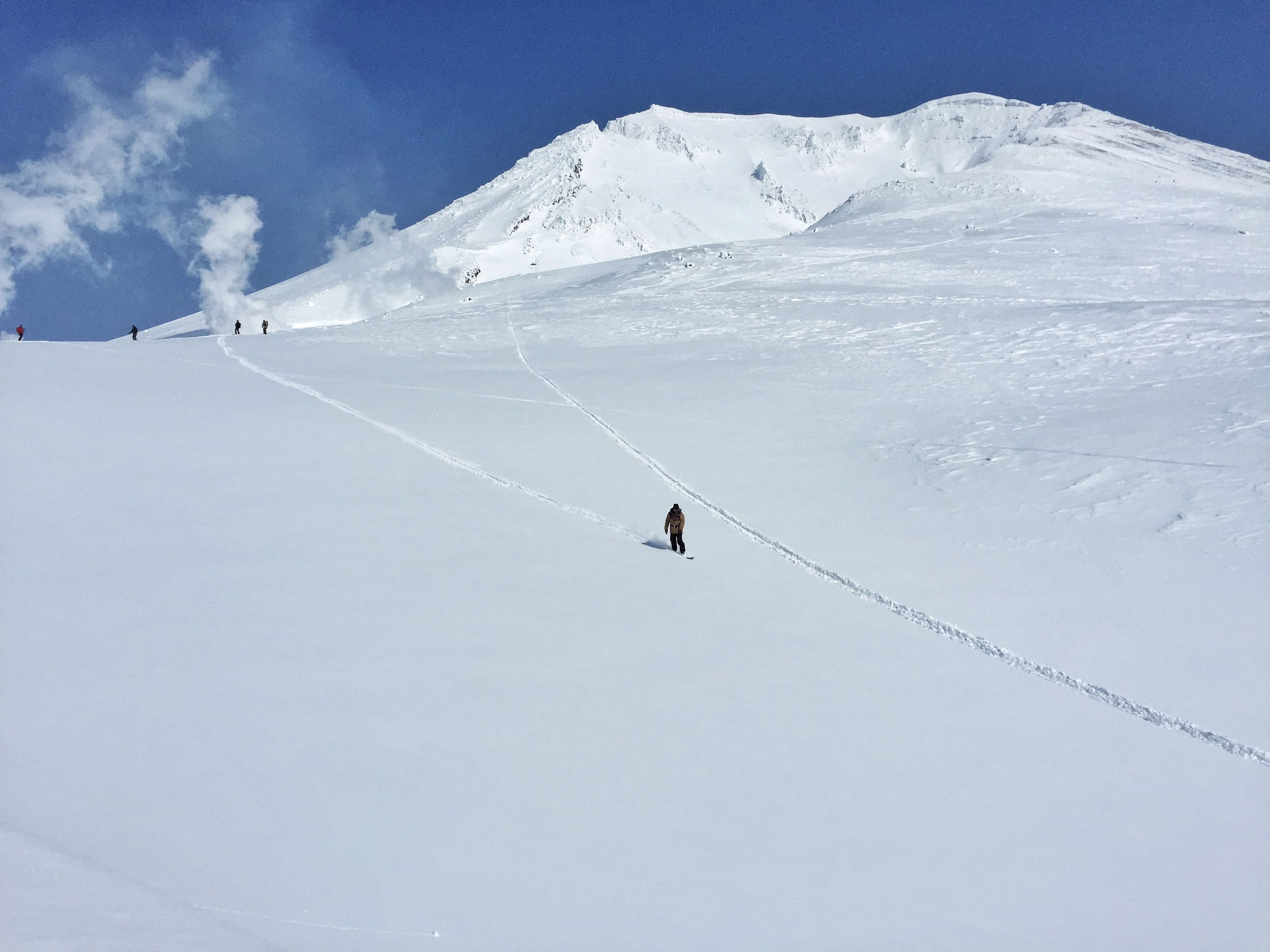 Riding away from Asahidake volcano
